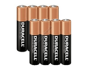 Pacco batterie Duracell  AAA